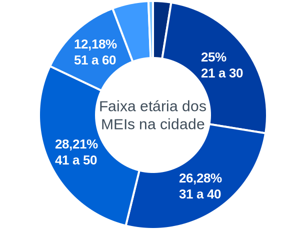 Faixa etária de MEIs na cidade de Flor da Serra do Sul