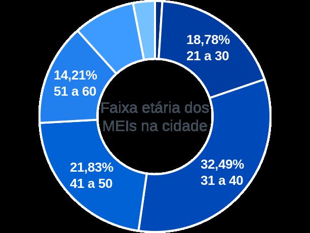 Faixa etária de MEIs na cidade de Guairaçá