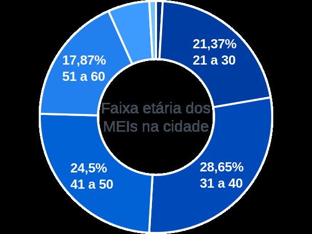 Faixa etária de MEIs na cidade de Marechal Cândido Rondon