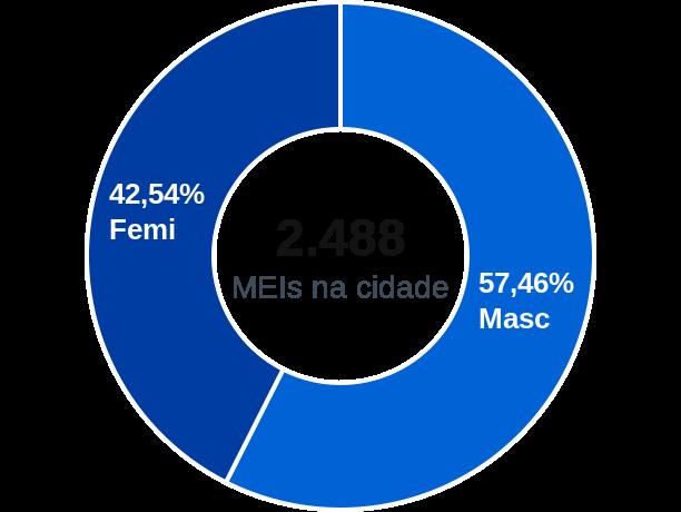 Gênero de MEIs na cidade de Medianeira