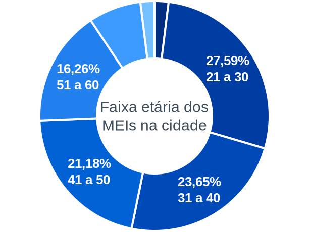 Faixa etária de MEIs na cidade de Paulo Frontin