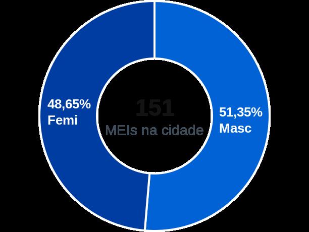 Gênero de MEIs na cidade de Pitangueiras