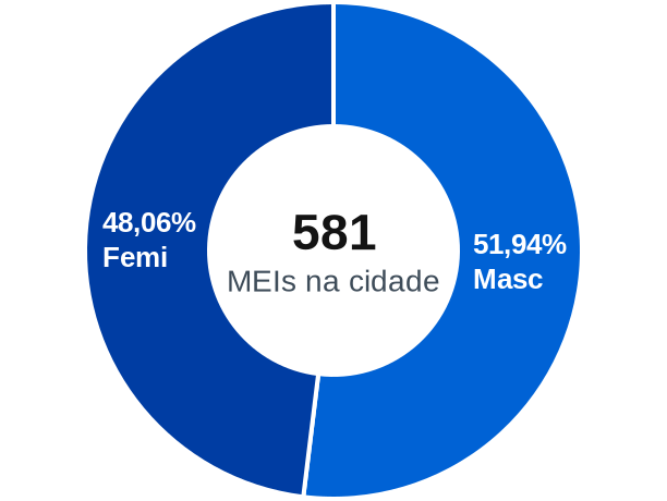 Gênero de MEIs na cidade de Planalto