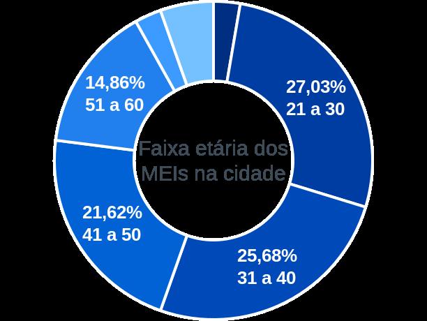 Faixa etária de MEIs na cidade de Porto Barreiro