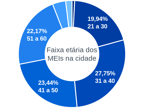 Faixa etária de MEIs na cidade de Rondon