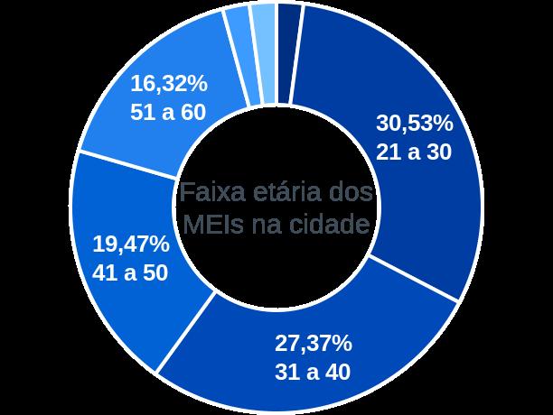 Faixa etária de MEIs na cidade de Rosário do Ivaí