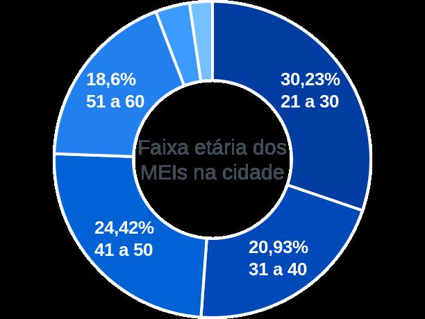 Faixa etária de MEIs na cidade de Santo Antônio do Caiuá