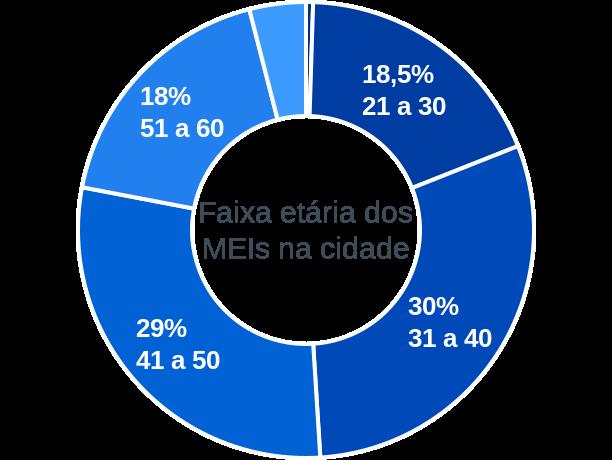 Faixa etária de MEIs na cidade de São José da Boa Vista