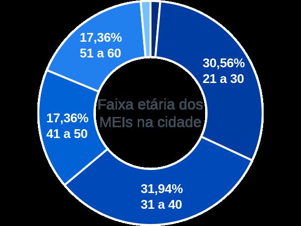 Faixa etária de MEIs na cidade de São José das Palmeiras