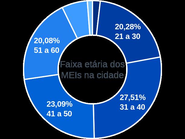 Faixa etária de MEIs na cidade de São Pedro do Ivaí
