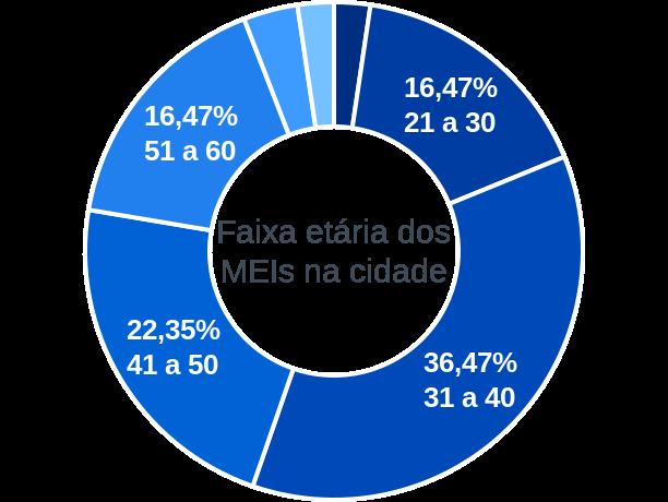 Faixa etária de MEIs na cidade de São Pedro do Paraná