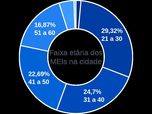 Faixa etária de MEIs na cidade de Três Barras do Paraná