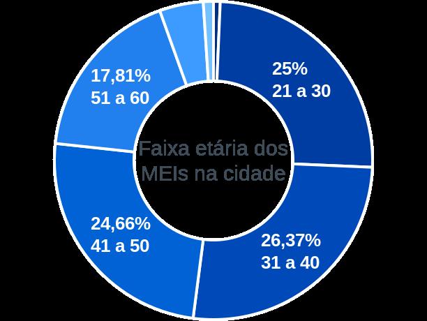 Faixa etária de MEIs na cidade de Tunas do Paraná