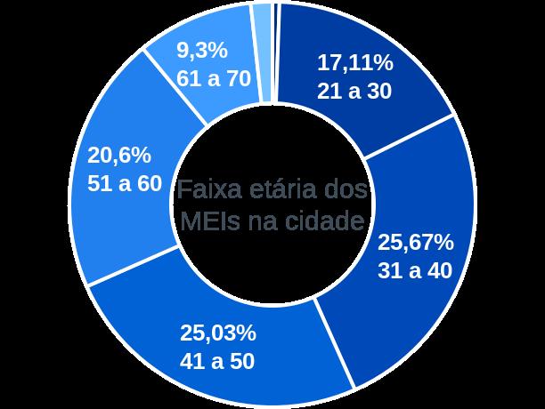 Faixa etária de MEIs na cidade de Barra do Piraí