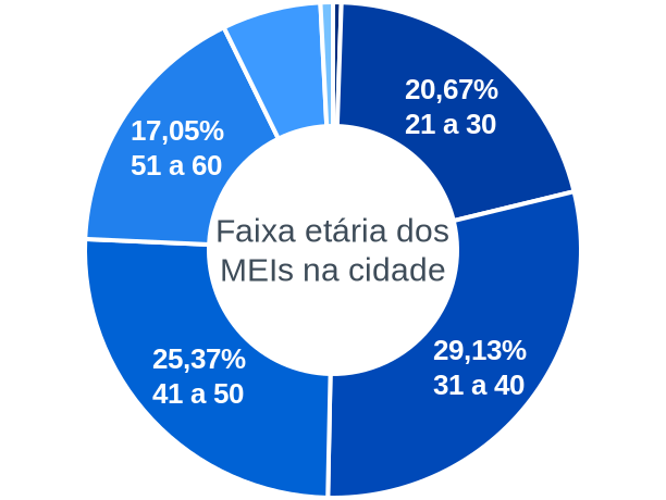 Faixa etária de MEIs na cidade de Cardoso Moreira