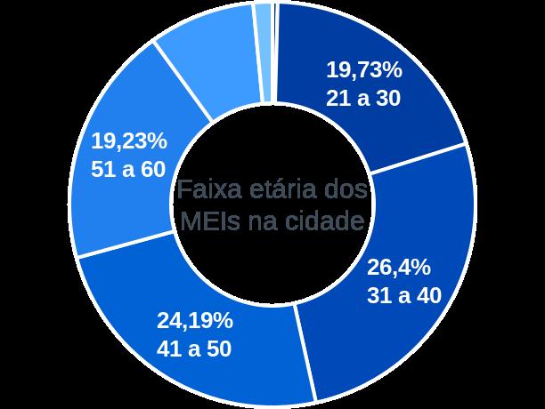 Faixa etária de MEIs na cidade de Miguel Pereira