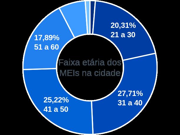 Faixa etária de MEIs na cidade de Porto Real