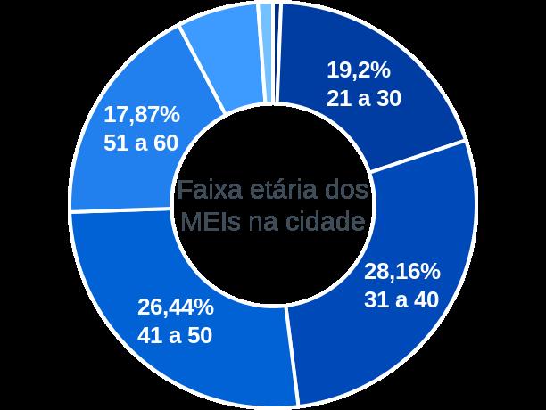 Faixa etária de MEIs na cidade de Rio Bonito