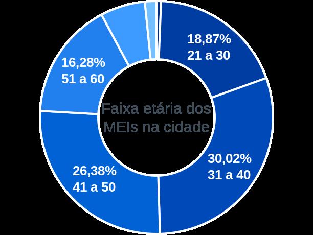 Faixa etária de MEIs na cidade de Rio das Ostras