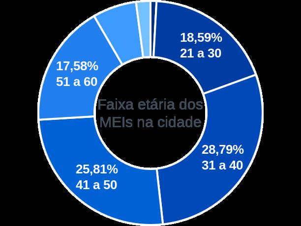 Faixa etária de MEIs na cidade de São Fidélis
