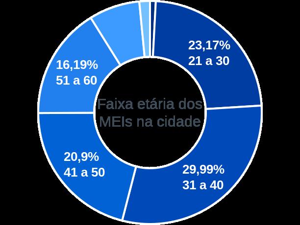 Faixa etária de MEIs na cidade de São João da Barra