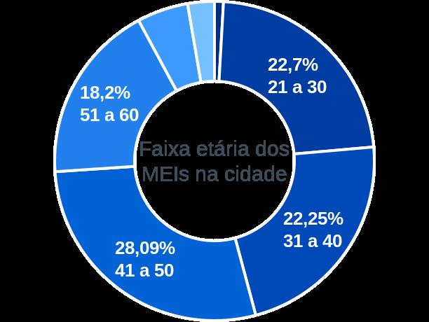 Faixa etária de MEIs na cidade de São José de Ubá