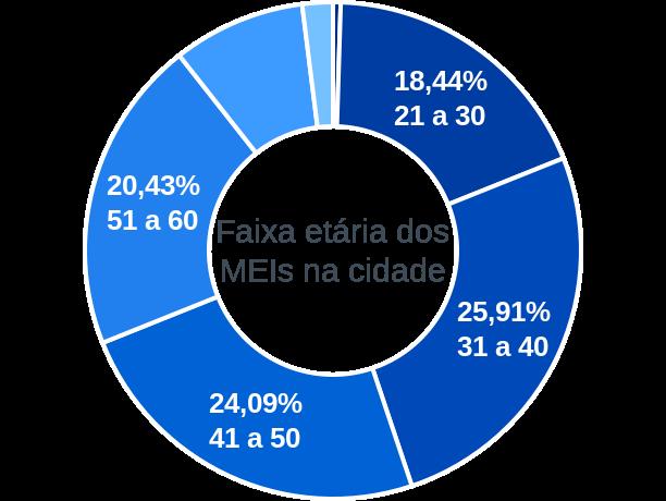 Faixa etária de MEIs na cidade de São Sebastião do Alto