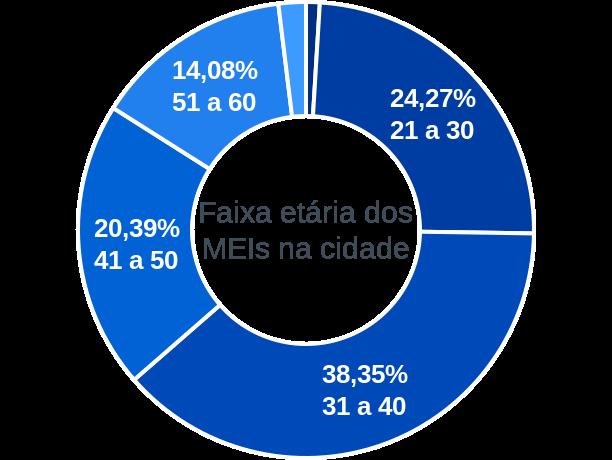 Faixa etária de MEIs na cidade de Afonso Bezerra