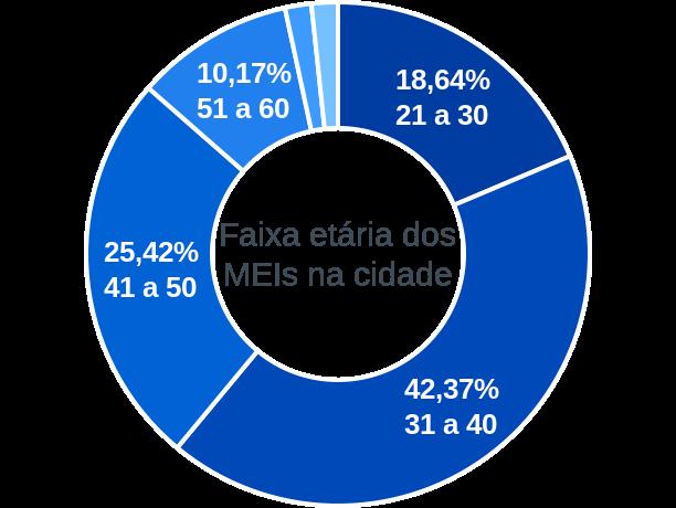 Faixa etária de MEIs na cidade de Antônio Martins