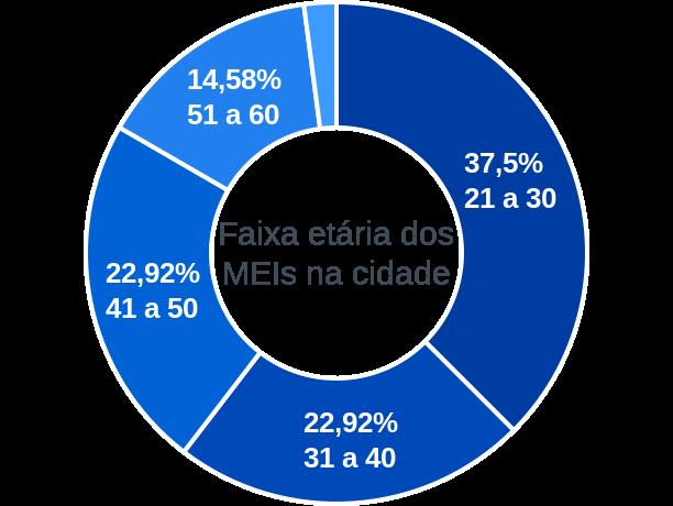 Faixa etária de MEIs na cidade de Coronel João Pessoa