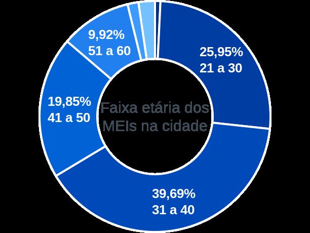 Faixa etária de MEIs na cidade de Januário Cicco