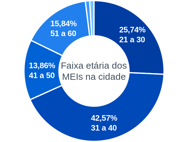 Faixa etária de MEIs na cidade de Lagoa d'Anta