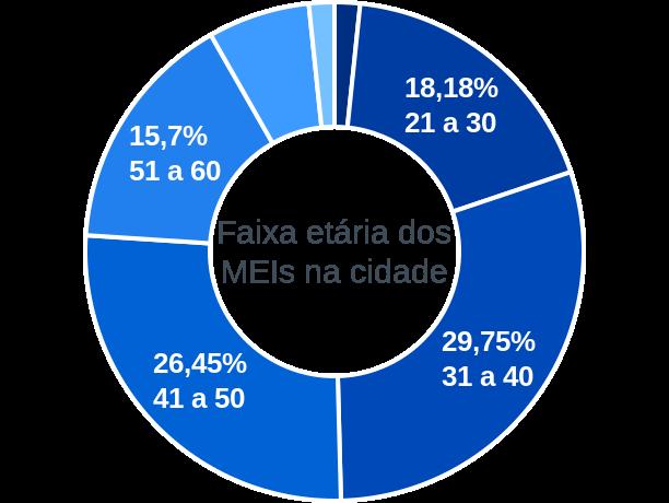 Faixa etária de MEIs na cidade de Luís Gomes