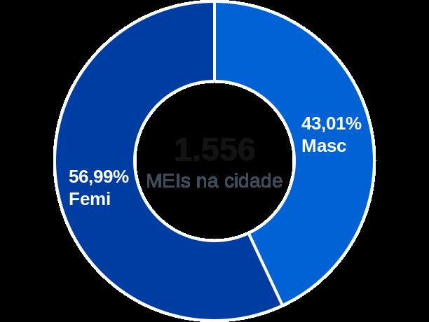 Gênero de MEIs na cidade de Macau