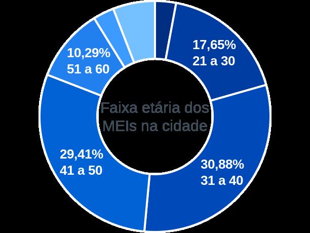 Faixa etária de MEIs na cidade de Olho d'Água do Borges