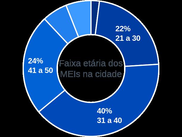 Faixa etária de MEIs na cidade de Paraná