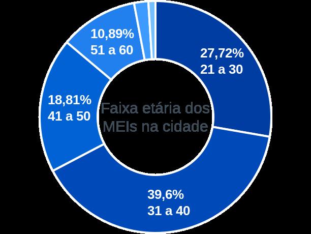 Faixa etária de MEIs na cidade de Rafael Fernandes
