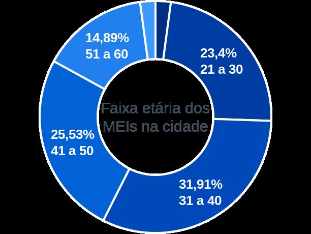 Faixa etária de MEIs na cidade de Riacho da Cruz