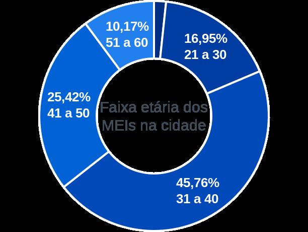 Faixa etária de MEIs na cidade de São Bento do Trairí
