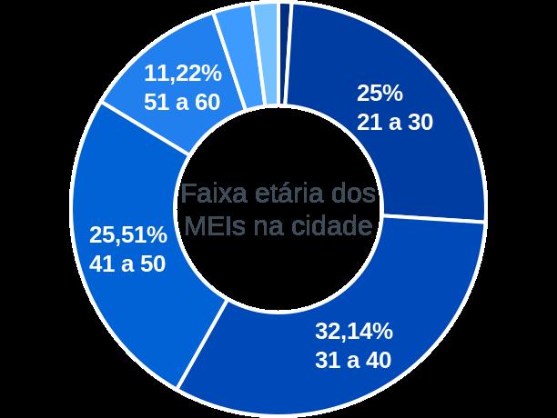 Faixa etária de MEIs na cidade de São João do Sabugi
