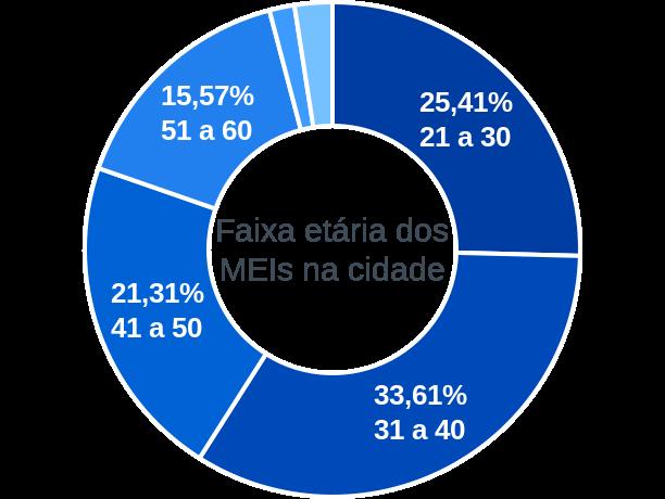 Faixa etária de MEIs na cidade de Serra de São Bento
