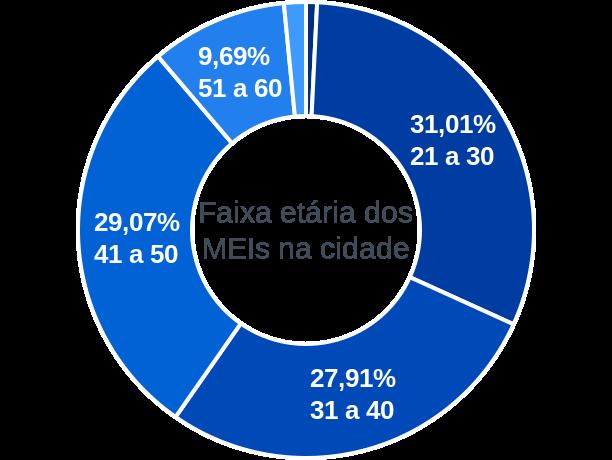 Faixa etária de MEIs na cidade de Alto Alegre dos Parecis