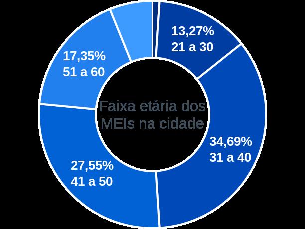 Faixa etária de MEIs na cidade de Primavera de Rondônia