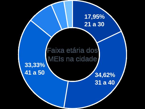 Faixa etária de MEIs na cidade de Rio Crespo