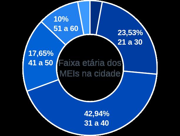 Faixa etária de MEIs na cidade de São João da Baliza