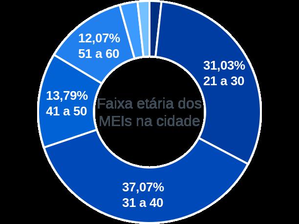 Faixa etária de MEIs na cidade de São Luiz