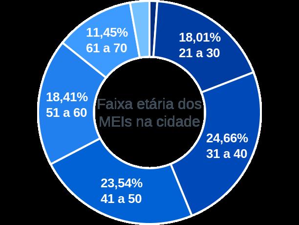 Faixa etária de MEIs na cidade de Balneário Pinhal