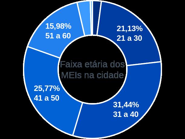 Faixa etária de MEIs na cidade de Barra do Guarita