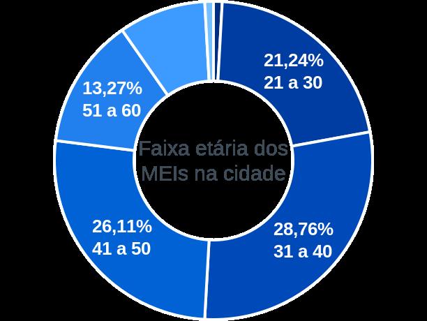 Faixa etária de MEIs na cidade de Barra do Quaraí