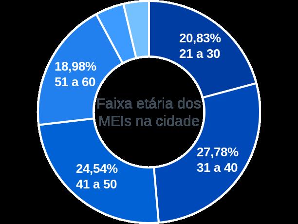 Faixa etária de MEIs na cidade de Barracão